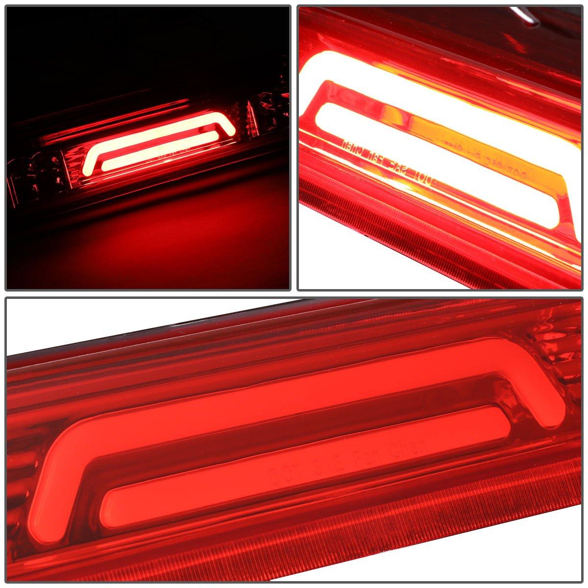 4th Chrome Housing//Smoked Lens For Ford Explorer Sport Trac//F-150 3D LED Light Bar Third Tail Brake Lamps