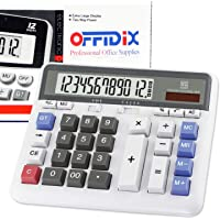 OFFIDIX Office Calculator Office Desktop Calculator, Solar and Battery Dual Power Electronic Calculator Calculadora…