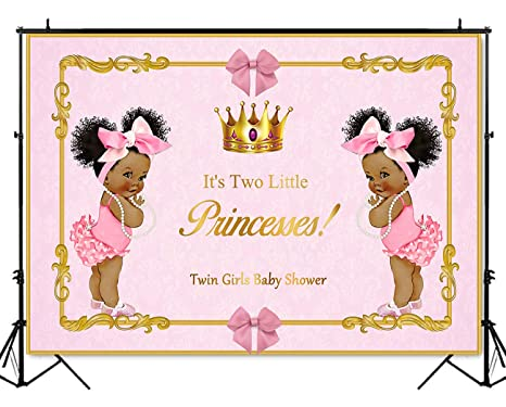 Amazon Mehofoto Twin African American Girls Baby Shower