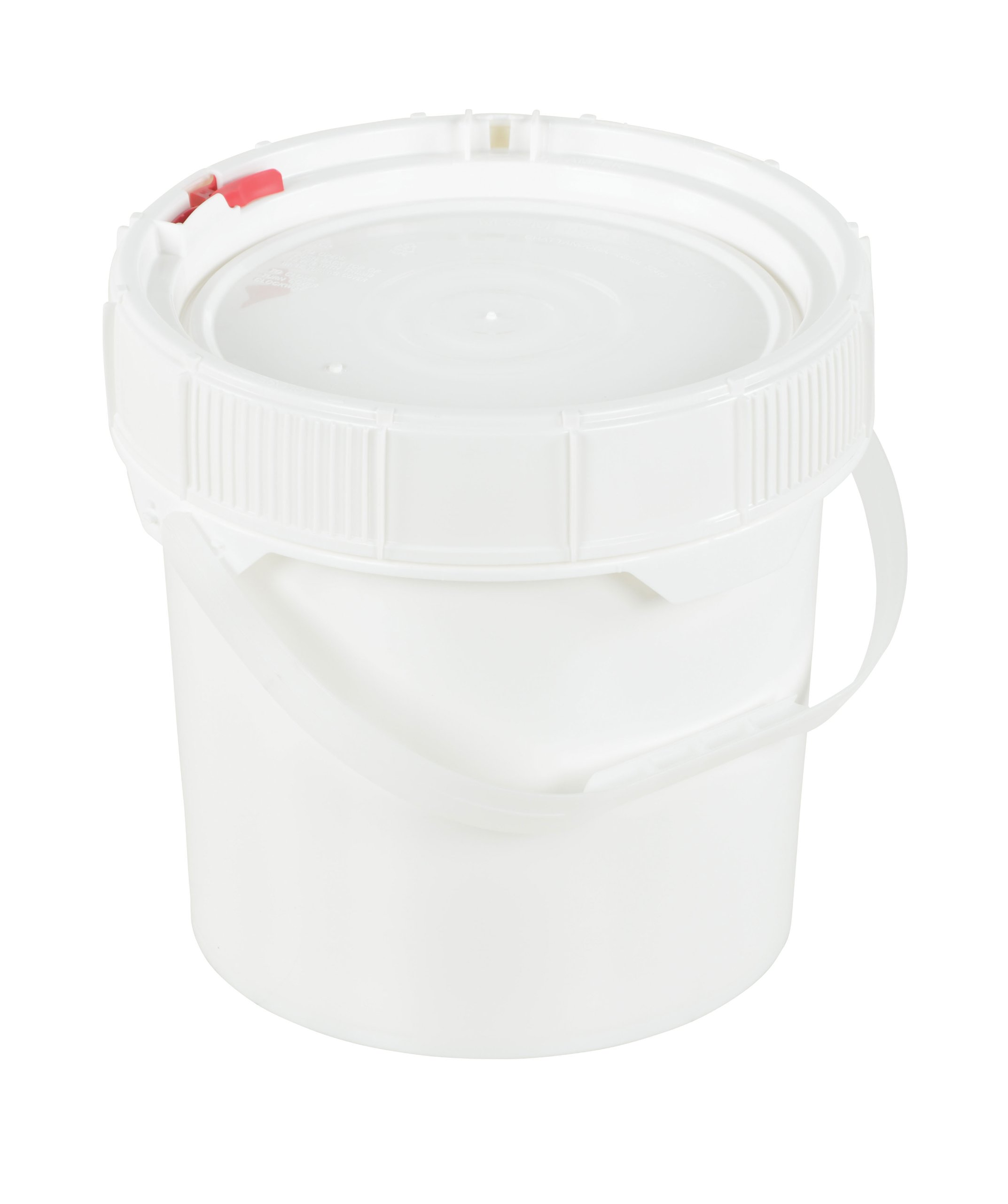 Vestil PAIL-SCR-35-W Plastic Screw Top Pail with Lid and Handle, 3.5 gallon Capacity, White