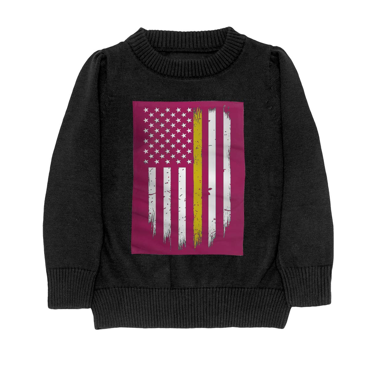 WWTBBJ-B 911 Dispatcher Thin Gold Line Casual Adolescent Boys Girls Unisex Sweater Keep Warm