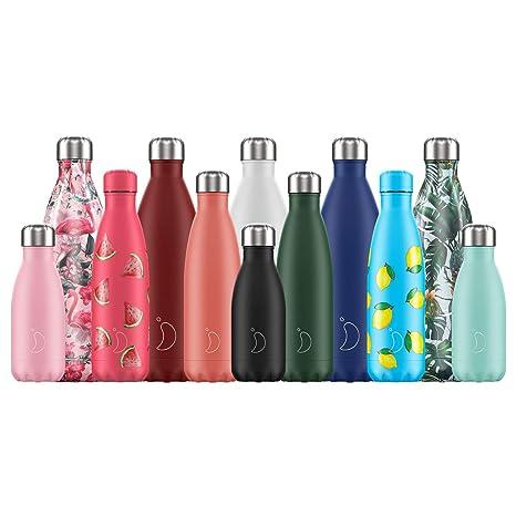 Botella De Agua De Chillys | Nuevo Logo 2019 | Acero Inoxidable y Reutilizable | Prueba de Fugas, Libre de transpiración | Acero Inoxidable | 1.8L