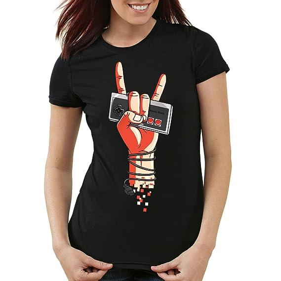 Controller Shirt Femme de Rock Classic style3 NES 8 Jeu Manette T PxYa7PnWq