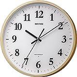リズム時計 掛け時計 電波 アナログ フィットウェーブM515 連続秒針 木 茶 RHYTHM 8MY515SR07
