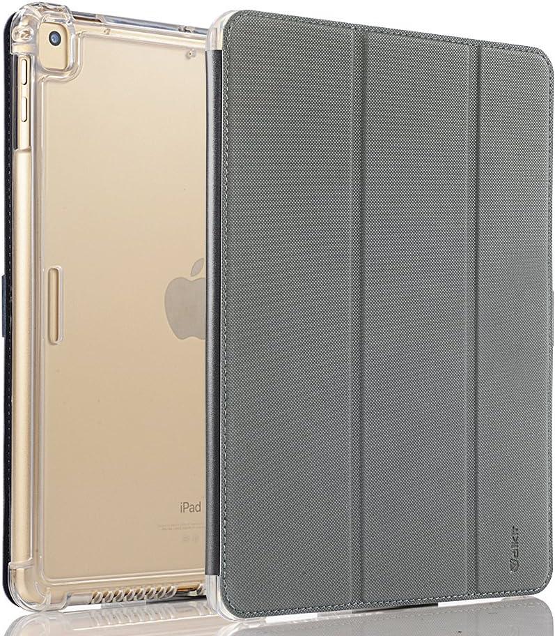 "Valkit iPad Mini 1 2 3 Case (NOT for iPad Mini 4/5), Smart Trifold Stand Translucent Frosted Back Cover with Auto Sleep/Wake for 7.9"" Apple iPad Mini, Mini 2, Mini 3, Grey"