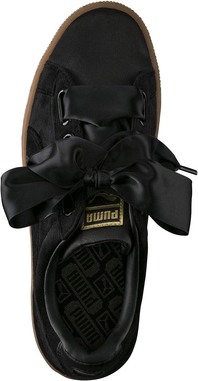Puma Suede Heart Safari, Basket Mode Femme Puma Black Gold