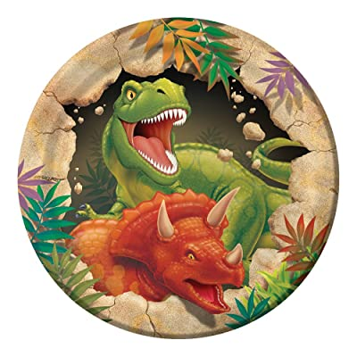 Creative Converting Dino Blast 8 Count Paper Lunch Plates: Childrens Party Plates: Kitchen & Dining