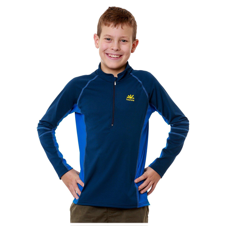 Nozone Boy's Long Sleeve Sun Protective Nautilus Swim Shirt - UPF 50+ 242B