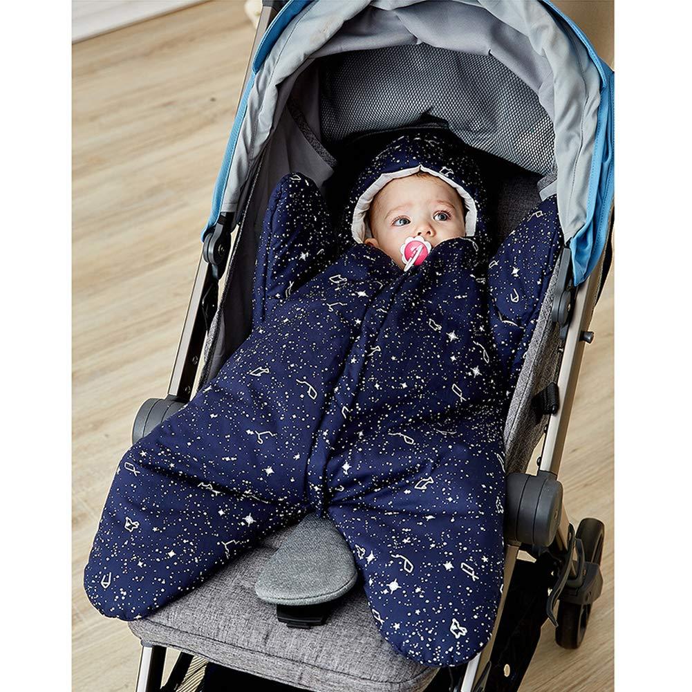 Saco de dormir para bebé, diseño de estrella de mar de invierno de algodón cálido, para recién nacido, cochecito, cama, bebé, 0 - 8 meses azul azul ...