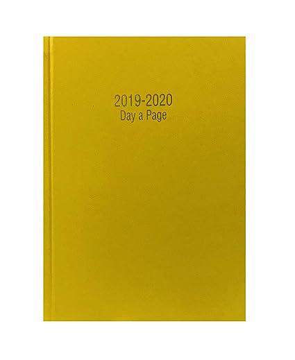 Precious 2018-2019 - Agenda escolar tamaño A4 con tapa dura y día por página, inglés, color amarillo