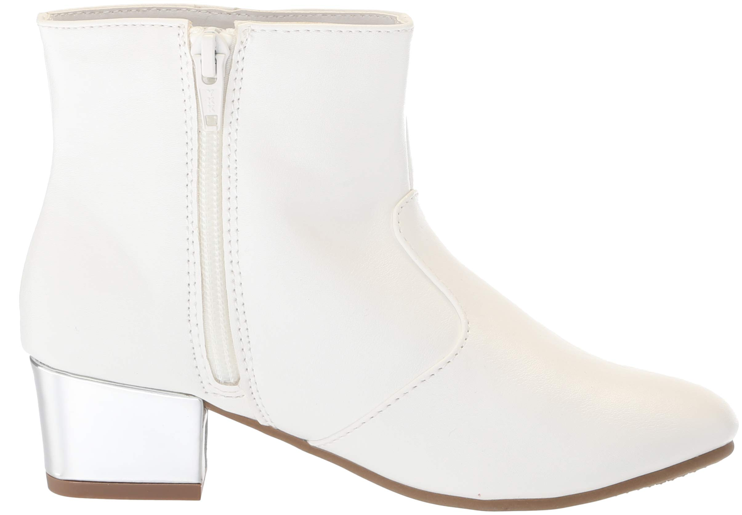 The Children's Place Girls' Bootie Fashion Boot, White, Youth 3 Child US Little Kid by The Children's Place (Image #7)