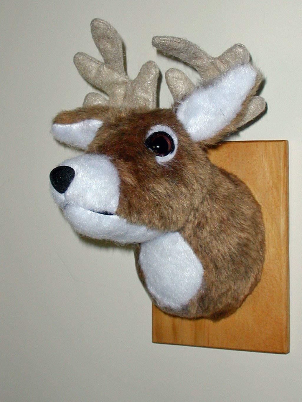 Plush Deer HeadJohnny Tiny Plaque Mount
