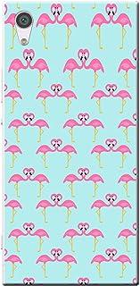 Fancy A Snuggle Flamingo Madness cover/custodia rigida per Sony cellulari nero Blue Flamingo Pattern Sony Xperia XA2