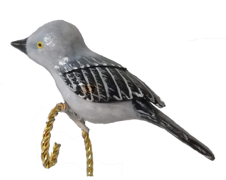Amazon.com: Hand Carved Northern Mockingbird Christmas Ornament: Handmade