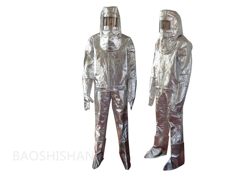 BAOSHISHAN LWS-001 アルミ耐炎製品 全身化学防護服 シェルファー アルミ防護服 耐熱 防炎 溶接 安全服 耐温700-1000℃ プレミアムカバーオール B07DWFS2QJ XL