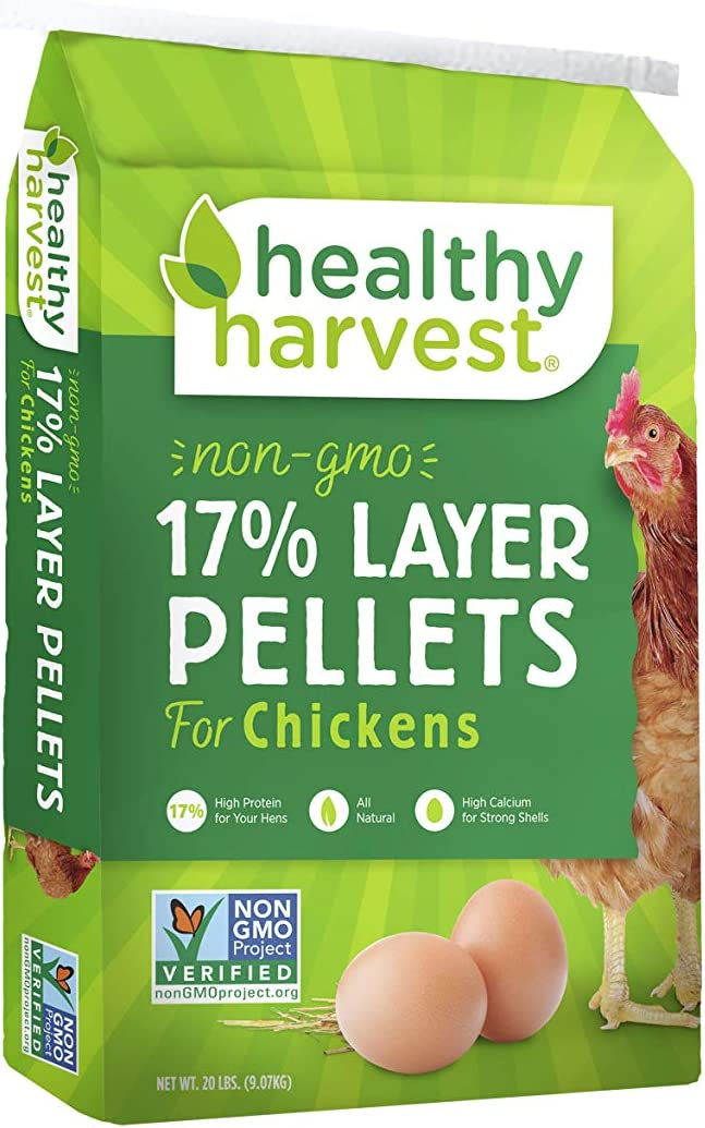 Healthy Harvest 1 Piece 17-Percent Layer Pellets For Poultry, 20 Lb