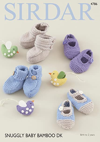 b1cf7add946f Sirdar 4786 Knitting Pattern Baby Bootees and Shoes in Sirdar ...