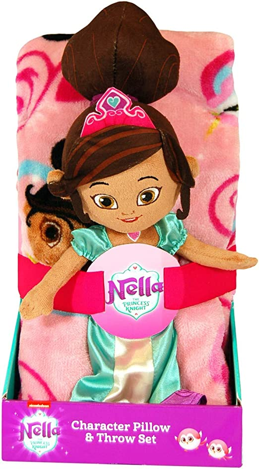 """Nella the Princess Knight 40/""""x50/"""" Pillow and Throw Set"""