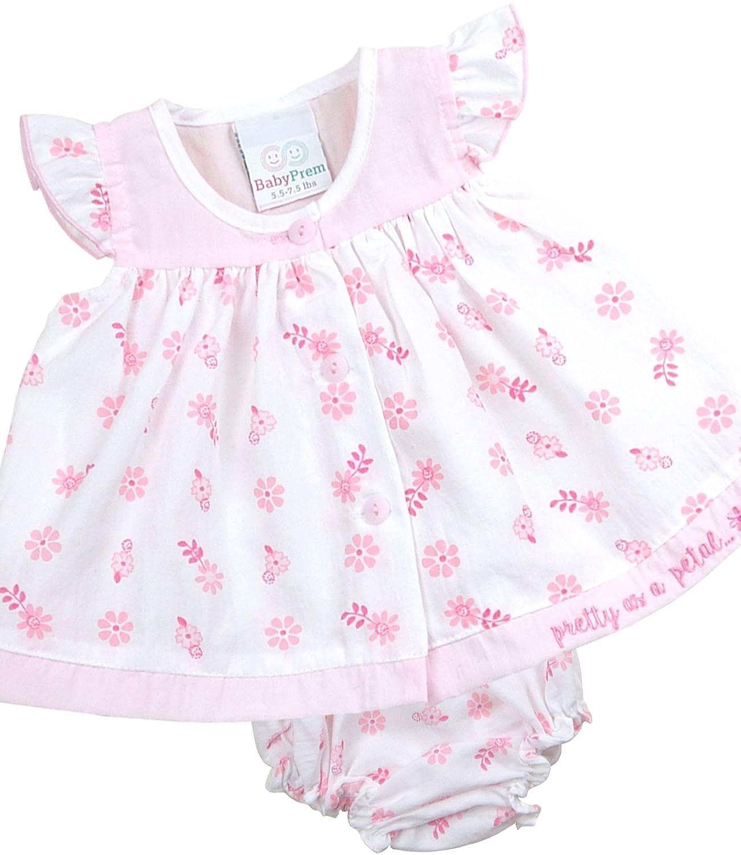 Babyprem Kleidchen Kopfband /& H/öschen Set M/ädchen Babykleidung Erdbeeren