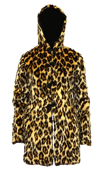 Amazon.com: Original Leopard Animal Print Fluffy Furry con ...