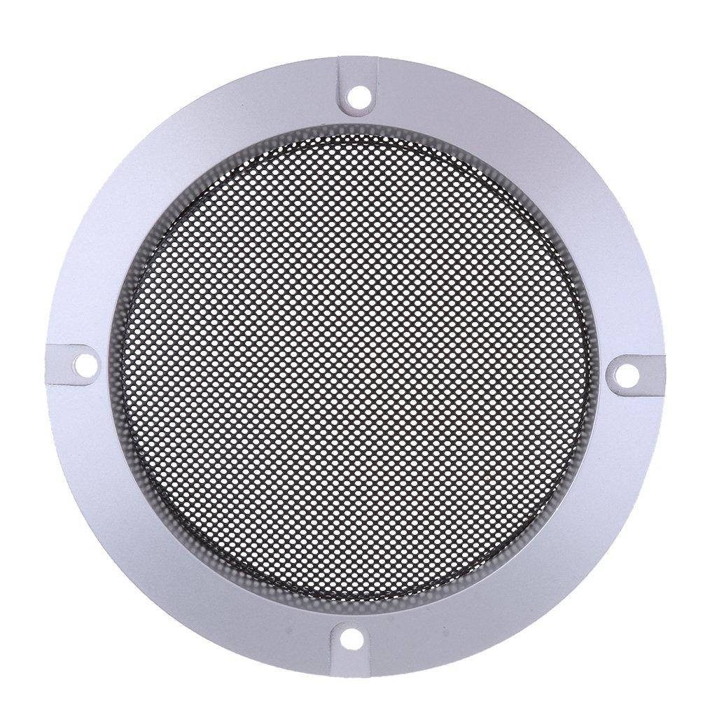 Material de Metal Laminado en Fr/ío de Acero 4 Pulgadas Plata Pl/ástico ABS 2 Colores 5 Espeficaciones para Eligir Sharplace Cubierta de Rejillas de Altavoz