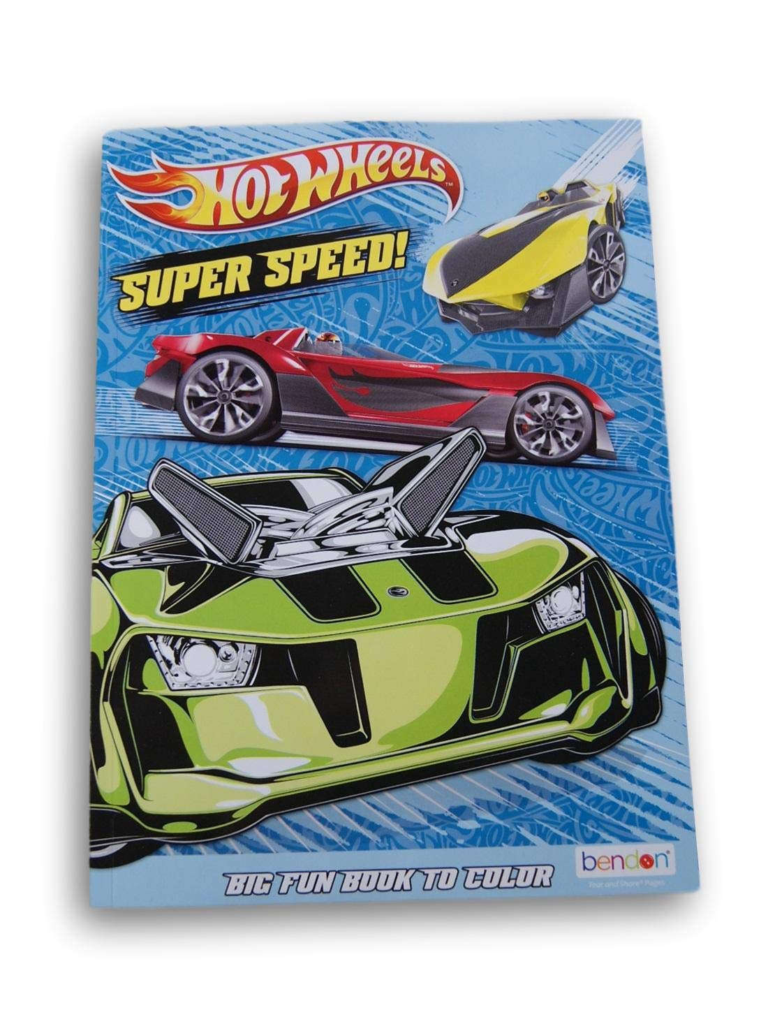 80 Pages Lazy Days Hot Wheels Coloring and Activity Book