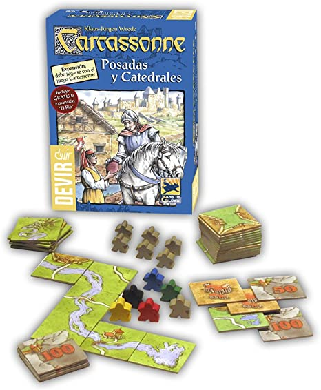 Devir - Carcassonne Posadas y Catedrales, expansión para juego: Amazon.es: Juguetes y juegos