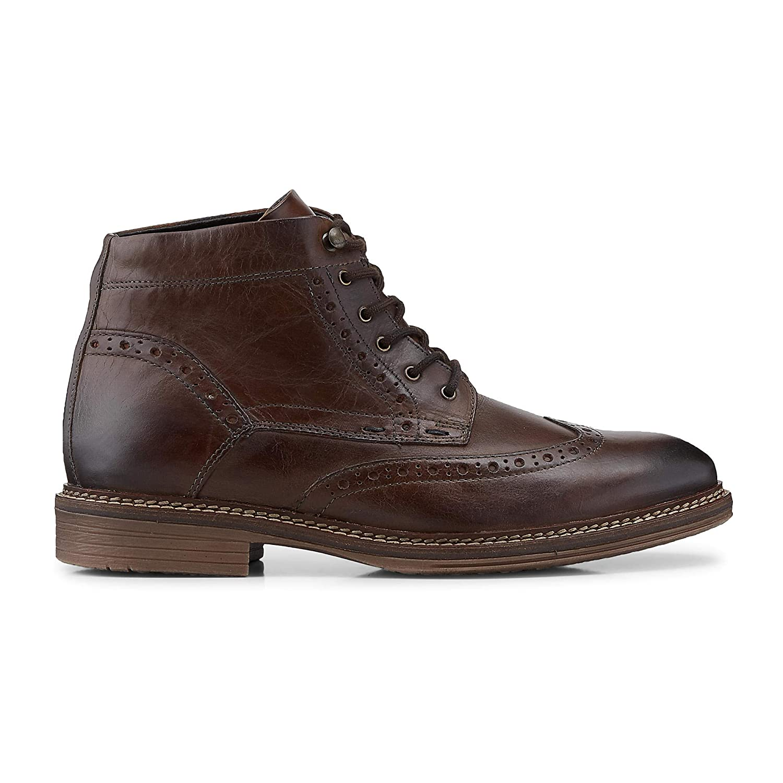 DRIEVHOLT DRIEVHOLT DRIEVHOLT Herren Herren Schnür-Stiefel aus Leder, Stiefel in Braun mit kuscheligem Innen-Futter 80e678
