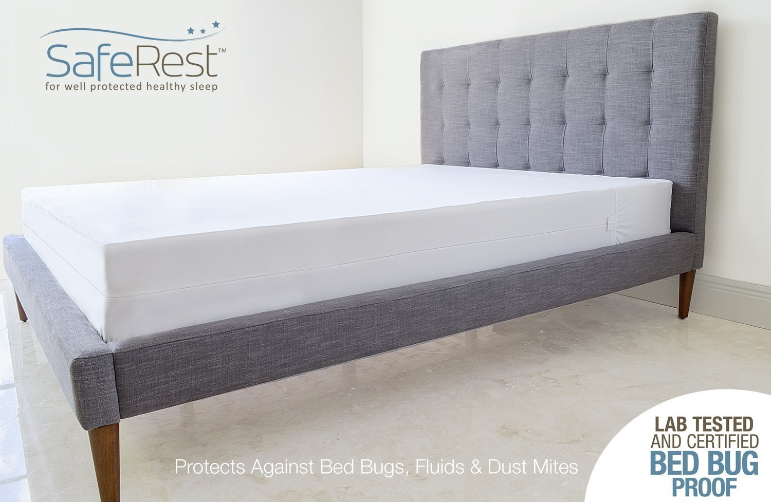 Amazon: Saferest Premium Low Profile Box Spring Encasement  Lab Tested  Bed Bug Proof, Dust Mite Proof And Waterproof  Breathable, Noiseless And  Vinyl