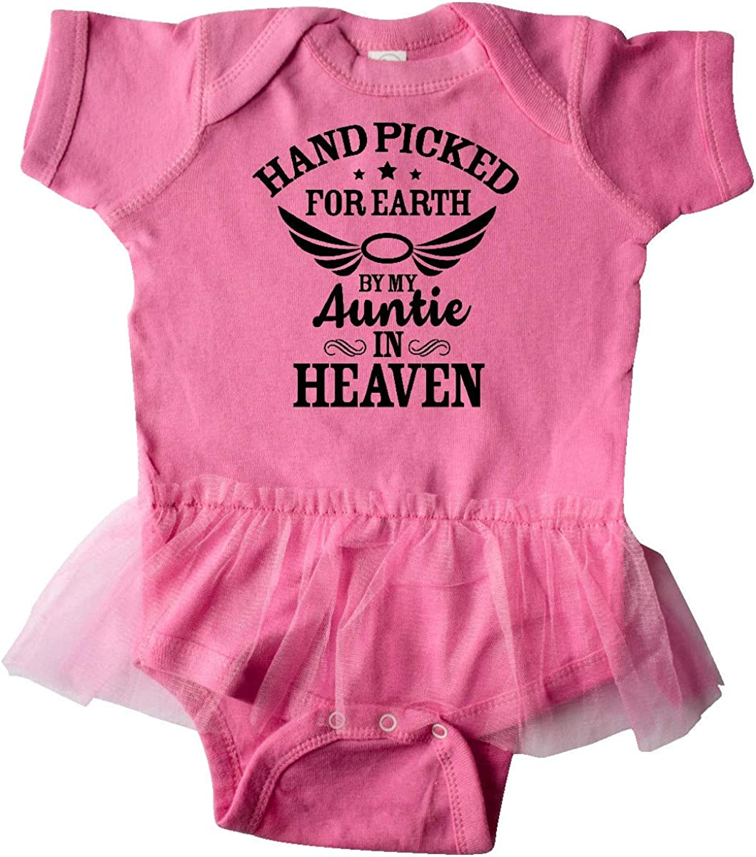 Inktastic Handpicked for Earth By My Auntie in Heaven with Infant Tutu Bodysuit