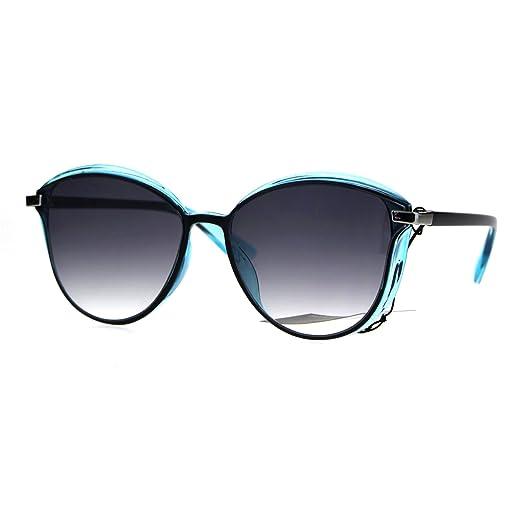 4eb6322eeb6 Womens Plastic Designer Fashion Trendy 90s Sunglasses Black Blue Smoke