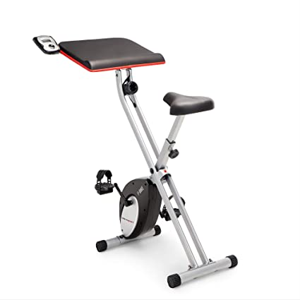 5efd43d2ee8 Amazon.com   Marcy Foldable Exercise Bike with Built-in Laptop Table ...