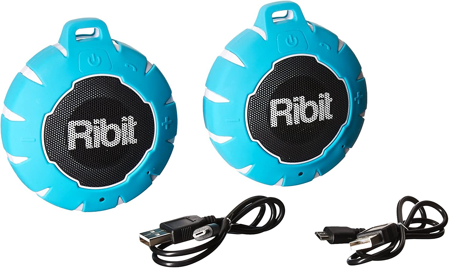 Amazon Com Ribit Red Waterproof Bluetooth Speakers Ipx7 Outdoor Wireless Speakers Best Bluetooth Speakers For Pool And Shower Floating Stereo Speaker Pair Home Audio Theater