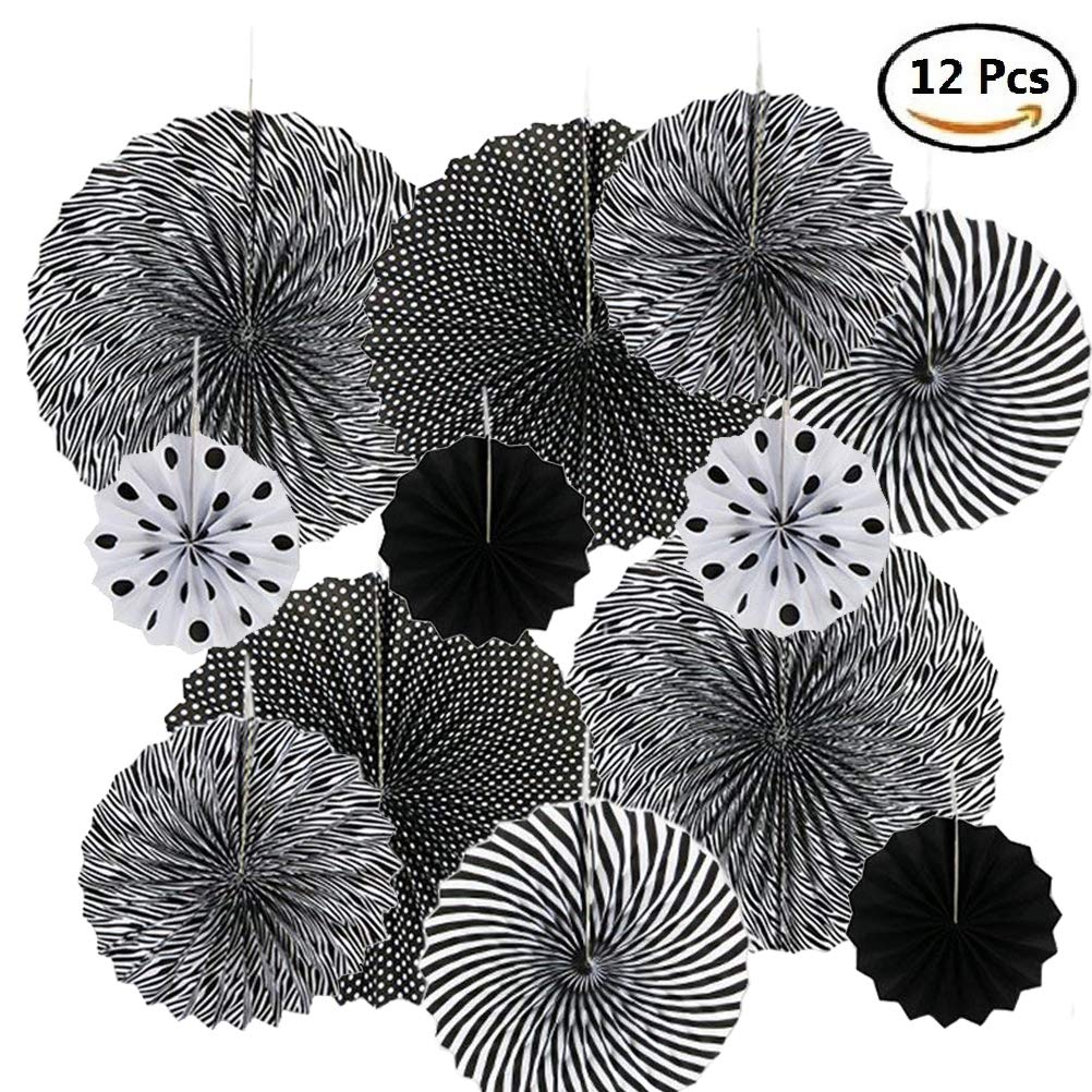 BangShou Hanging Paper Fan Decorations Paper Pinwheels Fan for Wedding Home Party Baby Shower Birthday Festival Carnival Wall Decor (12 America Captain)