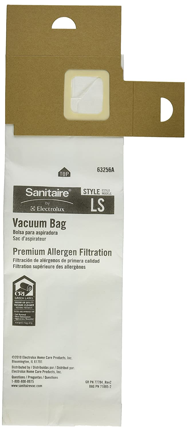 Sanitaire LS Premium Paper Bag (Pack of 5), Fits Models SC5713, SC5815, SP5816 Series Upright Vacuums, 63256A