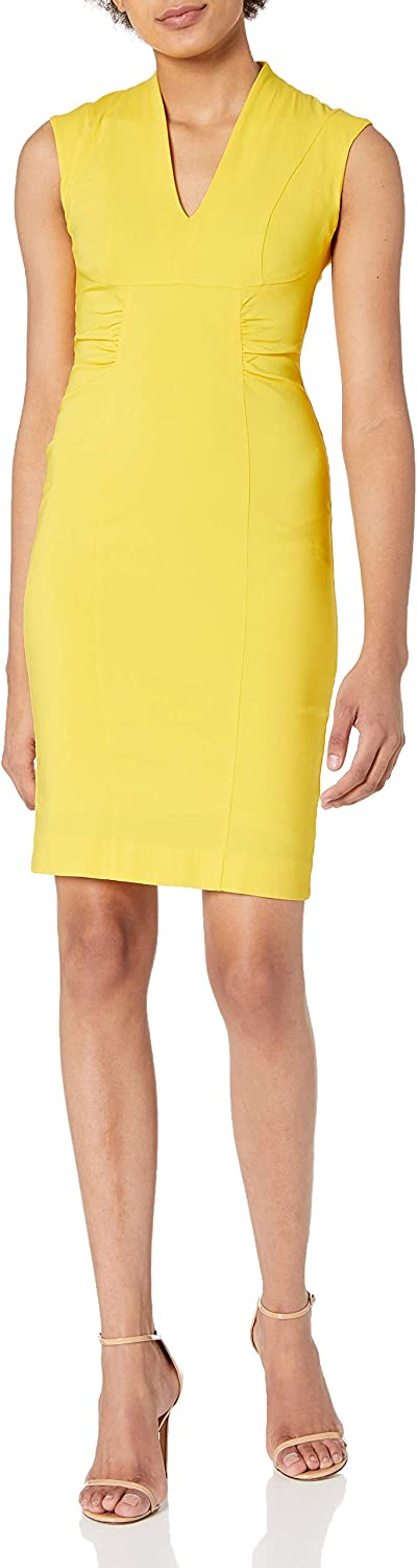 Laundry by Shelli Segal Women's Twill V Neck Dress