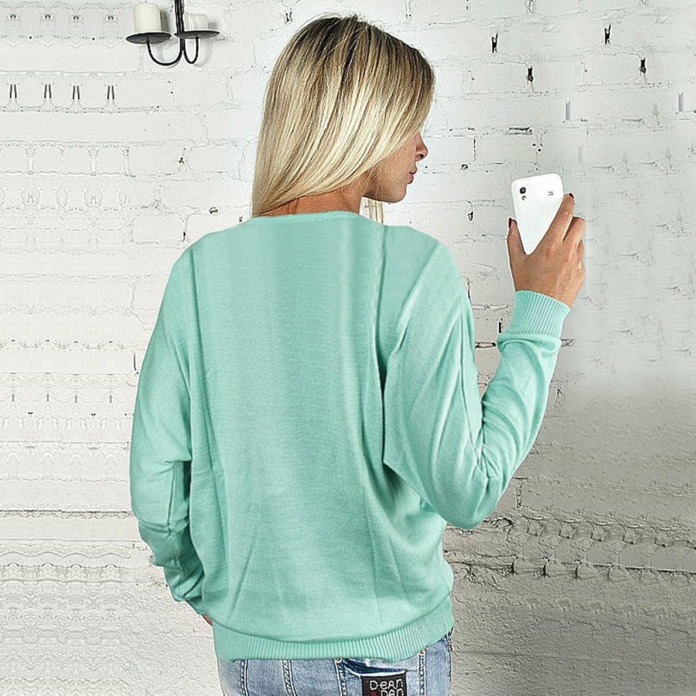 cooshional Loose Damen Langarm-Shirt Bluse-Shirt mit Reißverschluss V-Ausschnitt  Oberteil: Amazon.de: Bekleidung