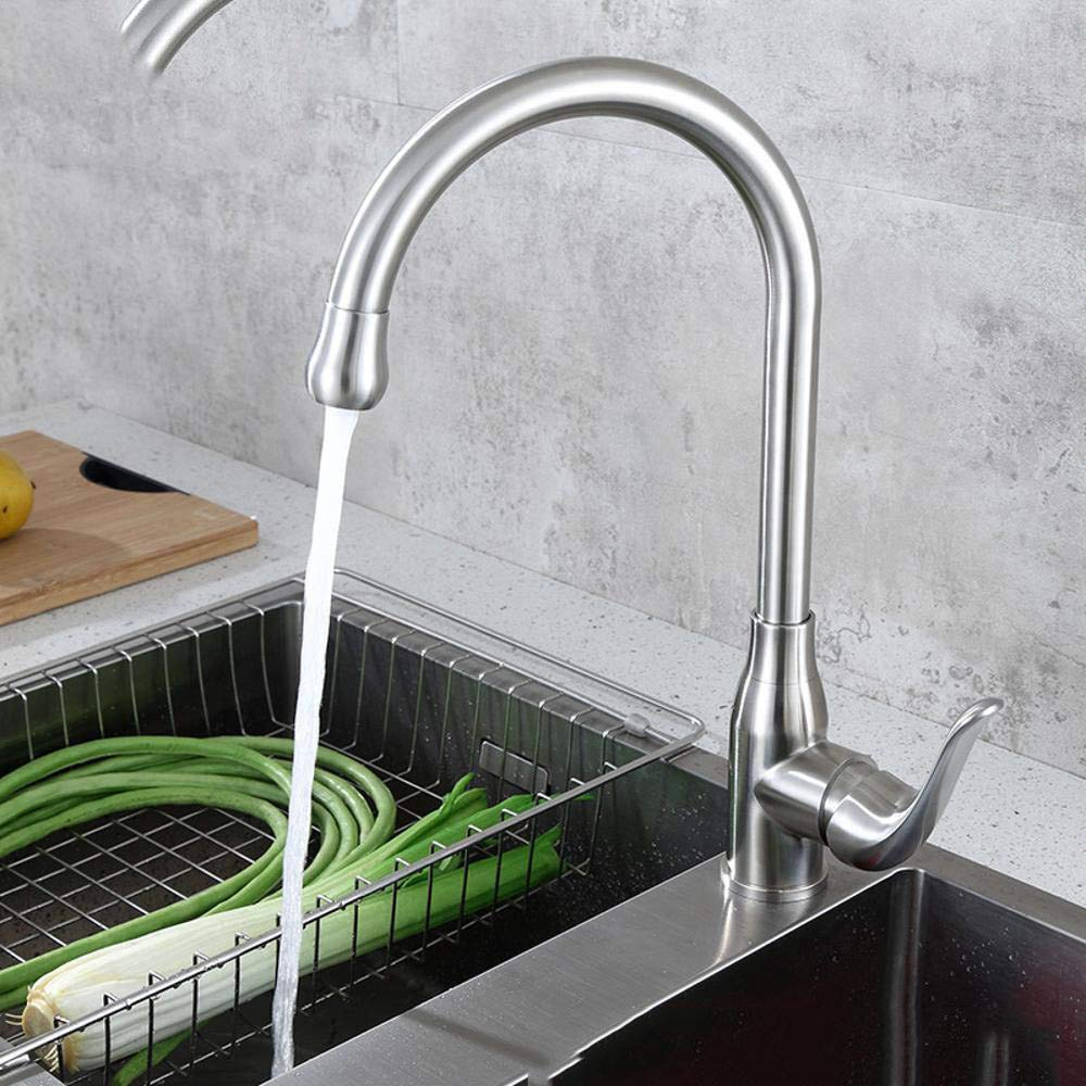 Qpw Stainless Steel Kitchen hot and Cold Faucet Sink wash Vegetable Basin Faucet