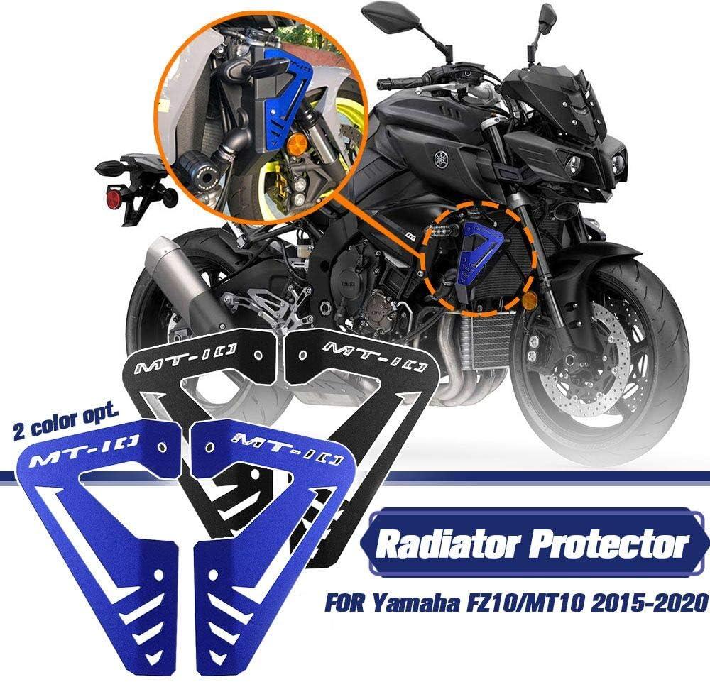 Mt Fz10 Motorrad Aluminium Kühler Seitenplatte Verkleidung Schutz Schutz Passend Für 2015 2020 Yamaha Mt10 Fz10 Mt 10 Fz 10 2016 2017 2018 2019 Blau Auto
