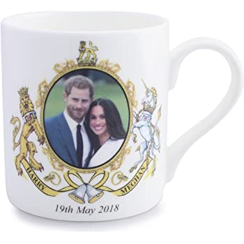 Meghan Markle and Prince Harry Wedding Coffee Mug 10 oz. Bone China UK Import