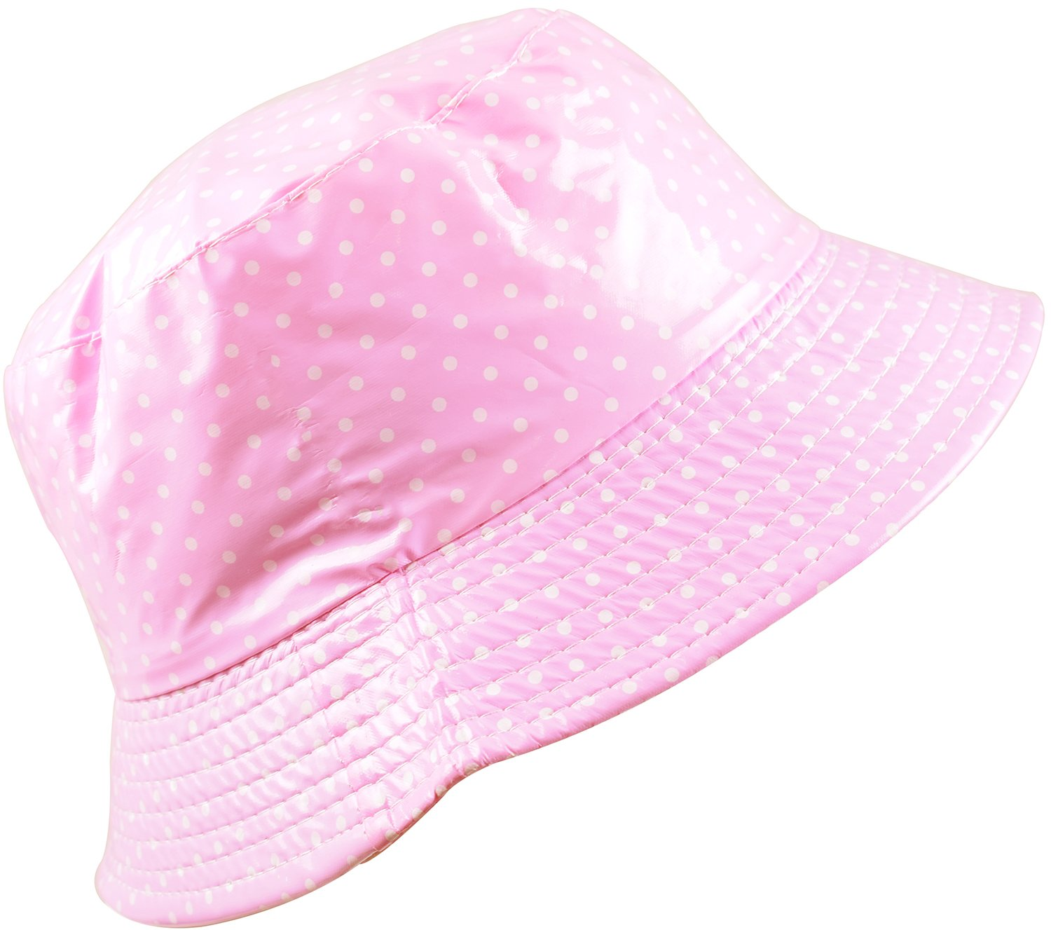 Galleon - YJDS Women s Rain Hat Waterproof Wide Brim Packable Dots Pink df9af8051e29