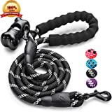 JBYAMUS 5 FT Strong Dog Leash with Comfortable Padded Handle, Heavy Duty Metal Clasp and Highly Reflective Threads for Medium and Large Dogs