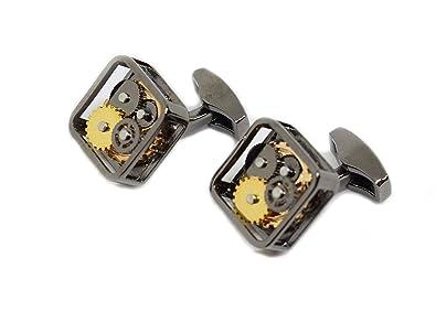 Buy DEEPERFETTO Gunmetal Watch Cufflink for Men/Cufflinks