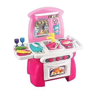 Htuk Girls Kitchen Play Set With 18 Accessories Children S Role