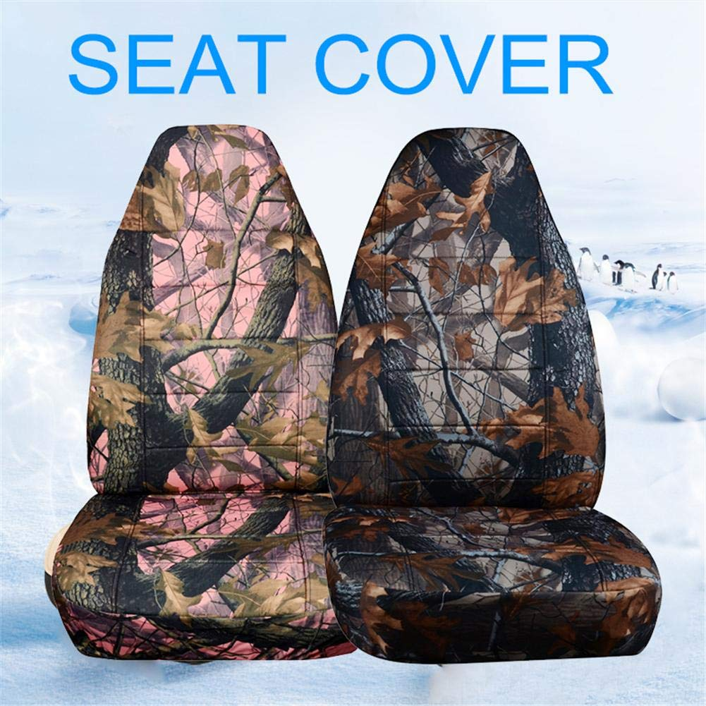 wonderfulwu Car Seat Cushion Universal Camouflage Front Rear Seat Cover for SUV Off-Road Vehicles