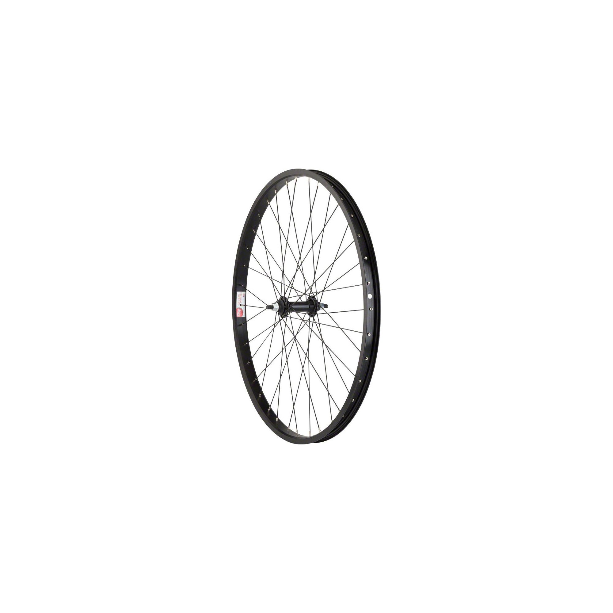 Sta Tru Front Wheel 26x1.75 Solid Thread on Axle with 36 Spokes, Includes Axle Nuts, Black