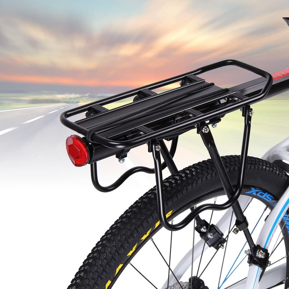 Bicycle Bike Rear Rack Seat Post Mount Pannier Luggage Carrier Aluminum GIFT