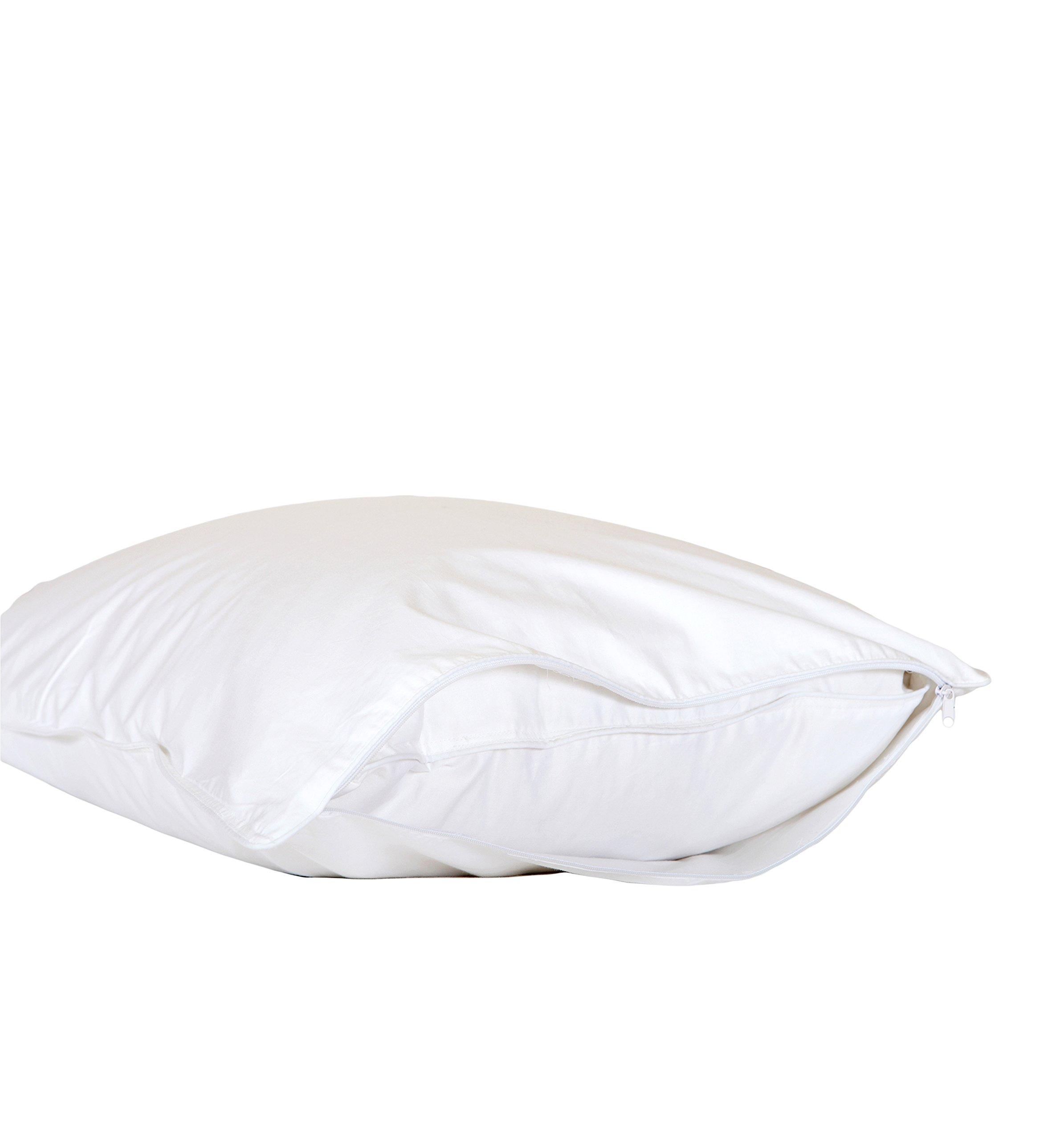 Cloud Nine Comforts Contessa Pillow Protector, King, White