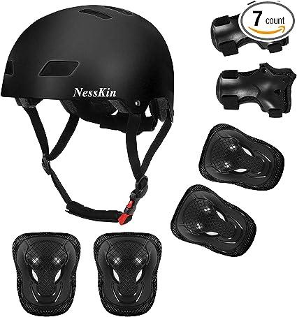 7 Protective Kids Helmet Knee Wrist Guard Elbow Pad Gear Skate Cycling Bike Safe