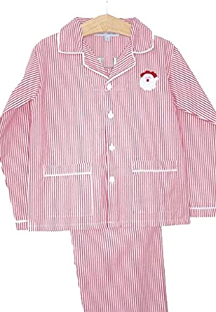 Amazon.com  Sweet Dreams Christmas Pajamas With Santa Embroidery ... e18a0cc12